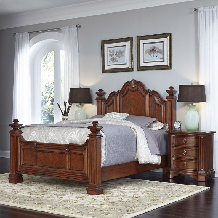 Home Styles Santiago Queen Bed and Two