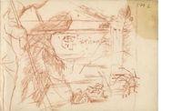 Νίκου Χατζηκυριάκου-Γκίκα, Προσχέδιο εικονογράφησης ποιήματος του Κ. Π. Καβάφη | ΦΩΤΟΔΕΝΤΡΟ