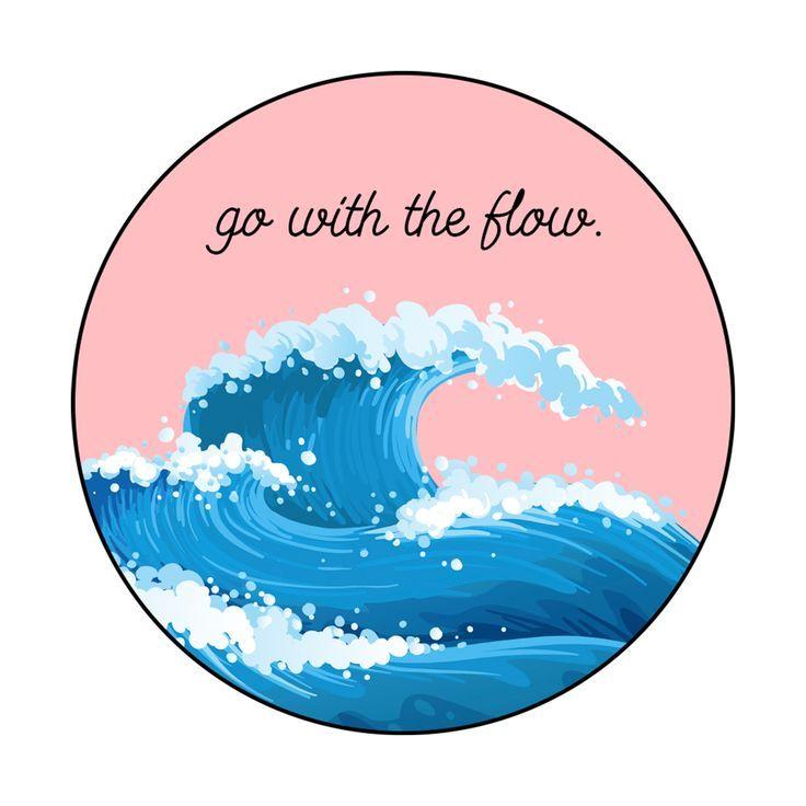Go With The Flow Sticker – #flow #Sticker