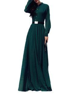 Fashionmia ladies maxi dresses with sleeves - Fashionmia.com