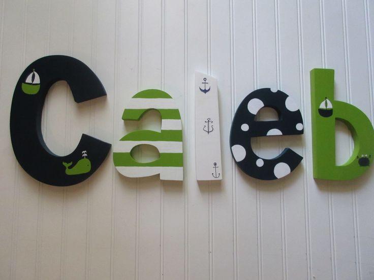 Hanging Wall Letters best 25+ boy nursery letters ideas on pinterest | chevron nursery