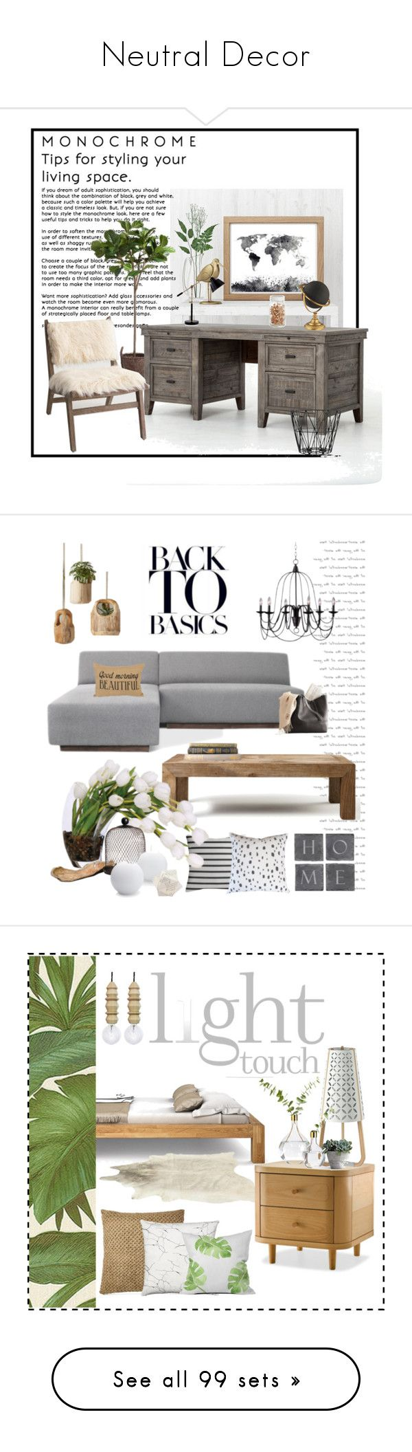 """Neutral Decor"" by doragutierrez ❤ liked on Polyvore featuring interior, interiors, interior design, home, home decor, interior decorating, Cost Plus World Market, ferm LIVING, Catalina and Flamant"