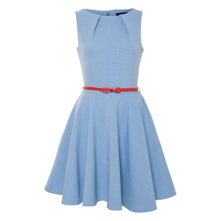 CLOSET Flared belted dress: Pretty Dresses, Closet Flare, Dreams Closet, Engagement Style, Bridesmaid Dresses, Belted Dress, Dresses Everyday, Cyber Closet, Belts Dresses