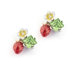 Wild Strawberry Stud Earring