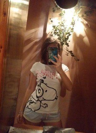 Kup mój przedmiot na #vintedpl http://www.vinted.pl/damska-odziez/koszulki-z-krotkim-rekawem-t-shirty/16106060-bluzka-snoopy-38-m