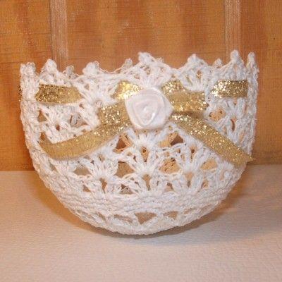 crochet bowl Wedding Favors