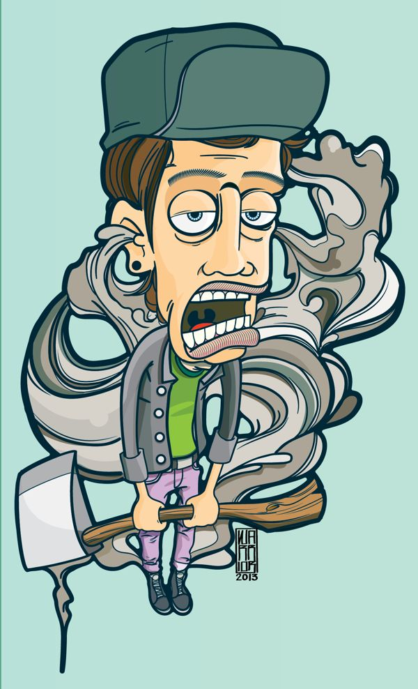 That Axe Eugene! by Daniel Acosta, via Behance