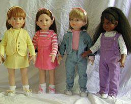 magic attic club dolls: megan, heather, allison, kesha - I wish they were still around