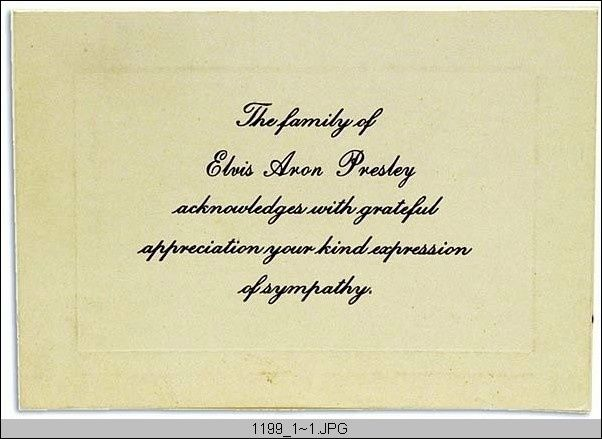 368 best elvis death images on pinterest elvis death elvis i received one of these cards after writing a sympathy letter to the family in 1978 expocarfo