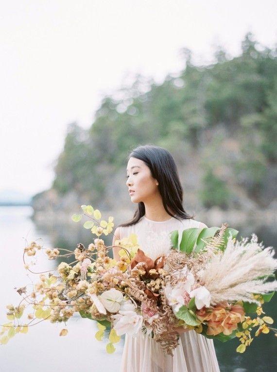 Serene modern Galiano Island wedding inspiration