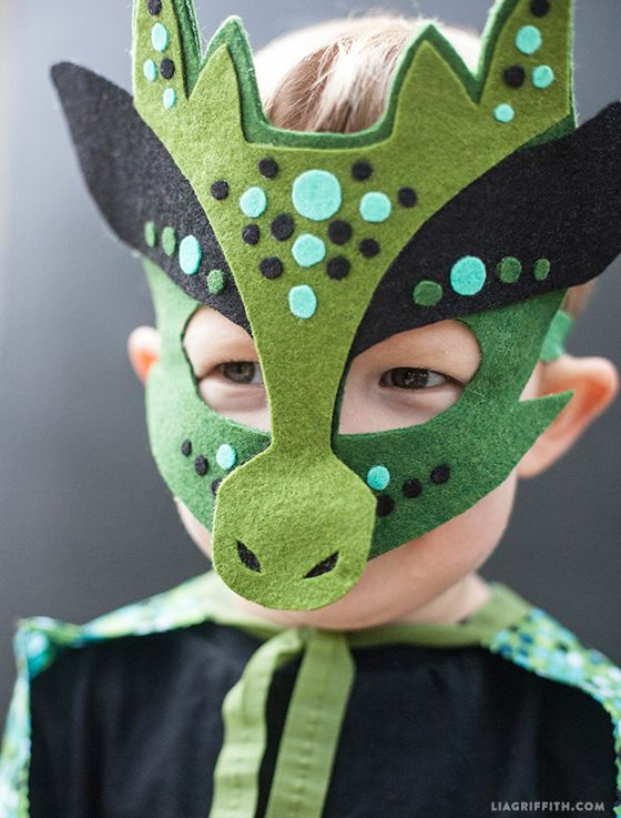 Every fierce dragon needs a great mask in order to truly look the part. This no-sew wonder will do the trick. Get the tutorial at Lia Griffith.