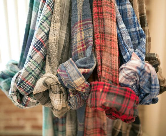Vintage Mystery Flannel Shirt Unisex from ShopFrolicVintage