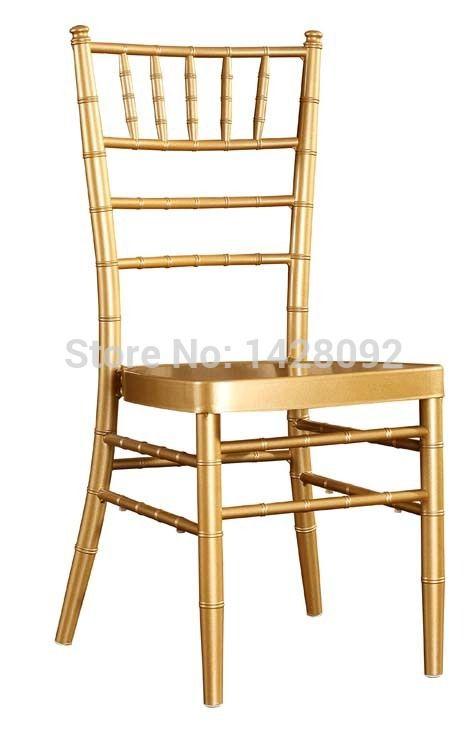 Calidad al por mayor fuerte de oro chiavari silla de aluminio para eventos de boda del partido