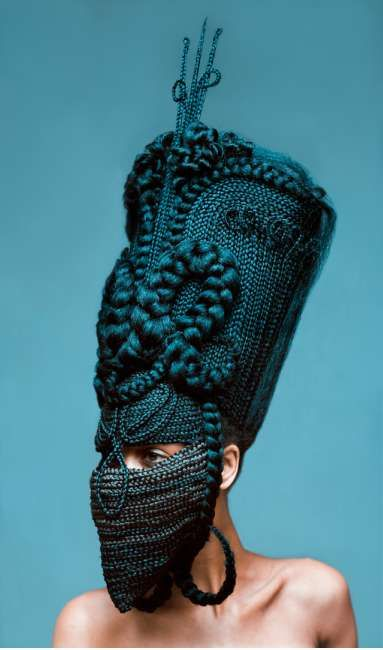 Woven Hair Mask Photography - The 'Highness' Photo Series Combines Fashion and Tribal Elements (GALLERY)