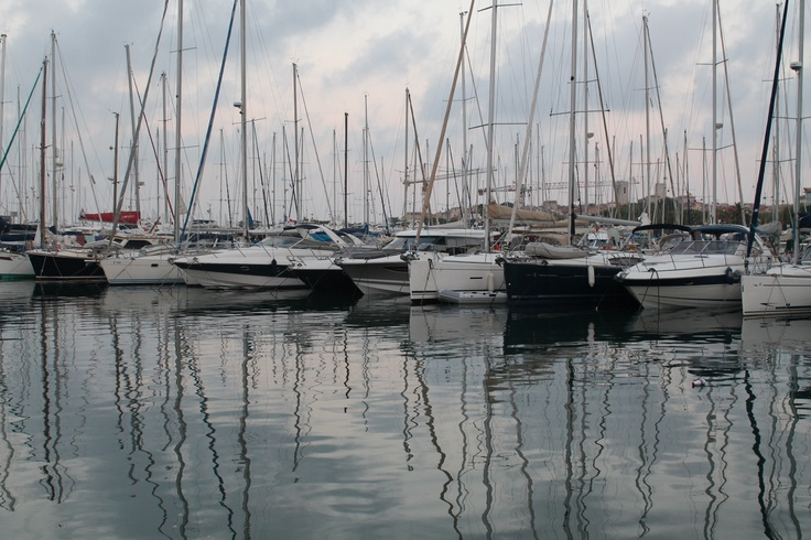 The Marina in Antibes, France