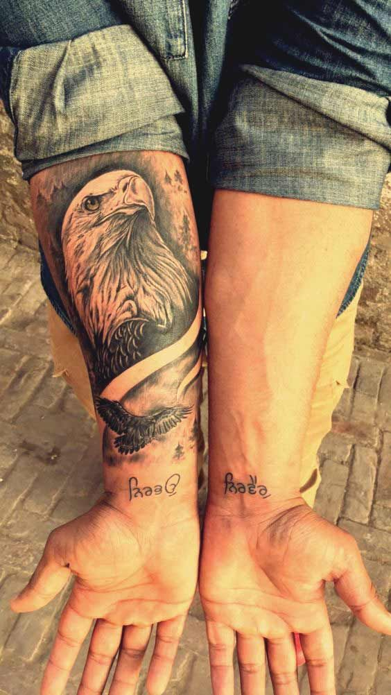 50 erstaunlich perfekte Ort Eagle Tattoos Designs mit Sinn #designs #e …   – Tattoos