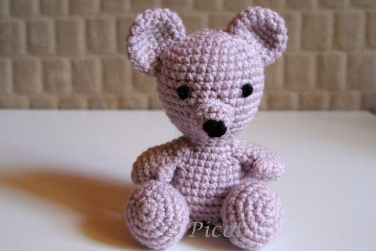 Picot - Szydełkowe Inspiracje: Szydełkowy Miś Nikodem, Crochet Bear, Amigurumi