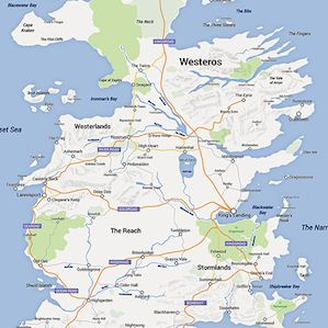 The 'Game of Thrones' Google Map Makes Navigating Westeros a Breeze