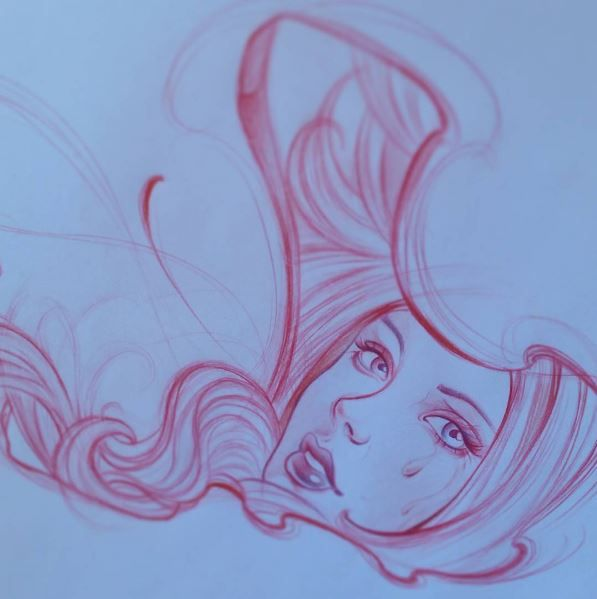 #dibujo #drawing #mujer #woman #cabello #labios #maquina #tatuar #machine #tattoo