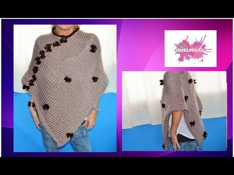 DIY.Comment tricoter un poncho. Très facile!// How to knit a poncho.Very easy! - YouTube