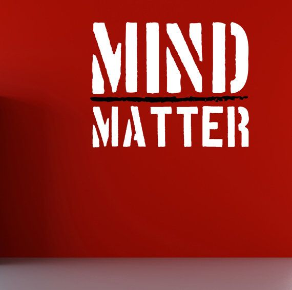 MindMatter. Wall Fitness Decal Quote Gym by DesignDivilFitness