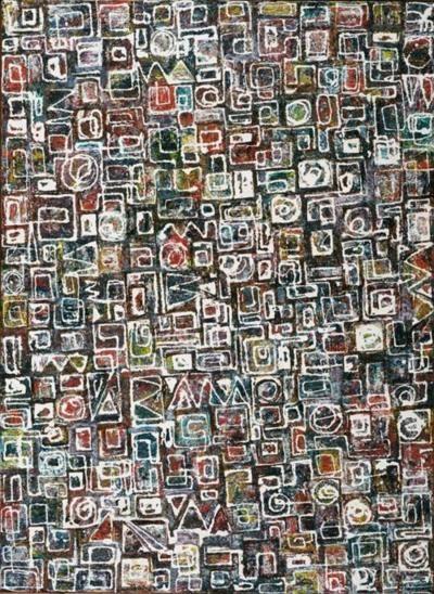 Lee Krasner ~ Composition, 1949 (oil) www.transitionresearchfoundation.com