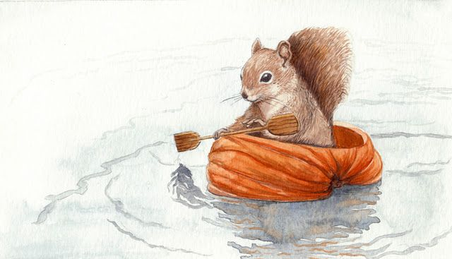 'Row, row, row your boat...' - by monbaum (deviantart) <> (illustrations, art, children, kids, nursery rhymes)