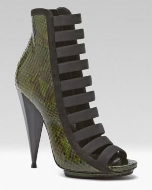ankle boot green piton gucci shoes 2014
