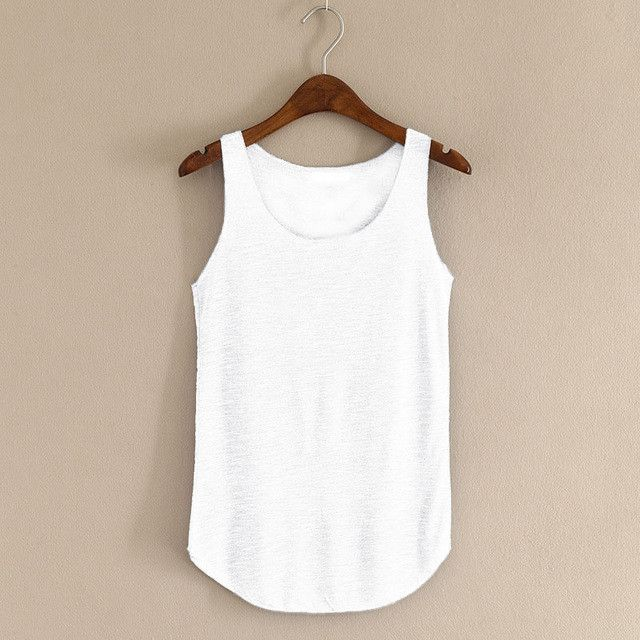 Spring Summer New Tank Tops Women Sleeveless Round Neck Loose T ...
