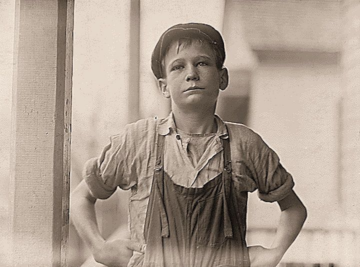 """Furman Owens, 12-years-old. Can't read. Doesn't know his A,B,C's. Said, """"Yes I want to learn but can't when I work all the time."""" Been in the mills 4 years, 3 years in the Olympia Mill. Columbia, South Carolina."""