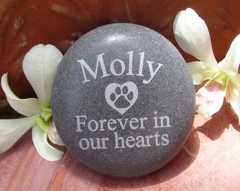 Large Personalized Pet Memorial Garden Stone by LoveRocksInc