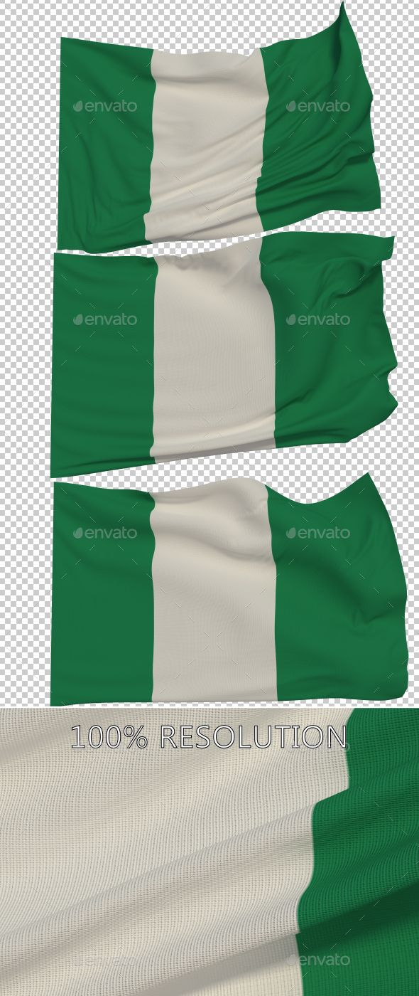 Flag of Nigeria - 3 Variants by Stanyslav12345 Hello Everyone. This is my new Flag of Nigeria. Hope you find it useful! 3 PNG images with Alpha and 3 copy in low resolution Res