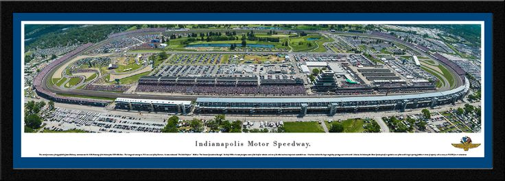 "This aerial panorama, photographed by James Blakeway, commemorates the 100th Running of the Indianapolis 500® Mile Race.  The inaugural running in 1911 was won by Ray Harroun, the man nicknamed ""The Little Professor.""  Billed as ""The Greatest Spectacle in Racing®,"" the Indy 500® is the most prestigious event of the IndyCar calendar, and one of the oldest and most important automobile races.  It has been declared the largest single-day sporting event in the world.  Likewise, the Indianapolis…"