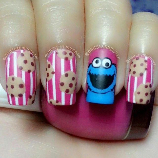 nailsbymiawrrr #nail #nails #nailart I loved cookie monster as a kid Oh who am I kidding I still do