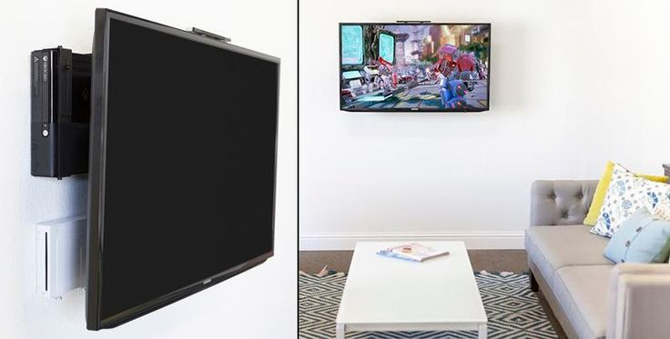 tv on wall where to put cable box. 10 cool ways to hang that flat screen you finally saved up for | cable box, apple tv and clutter tv on wall where put box l