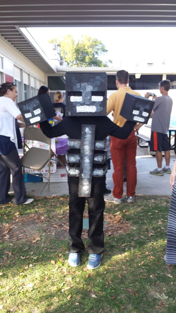 My kid wanted a Wither costume for halloween. Minecraft ... & 100+ ideas to try about Ben Halloween | Homemade Halloween costumes ...