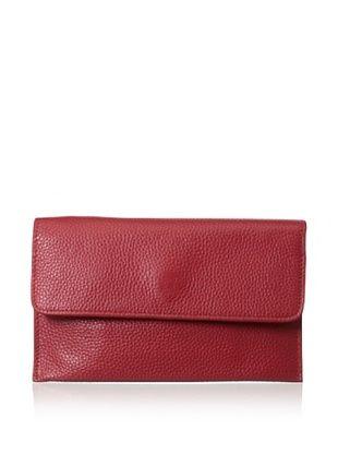 65% OFF Zenith Women's Flap Wallet, Red