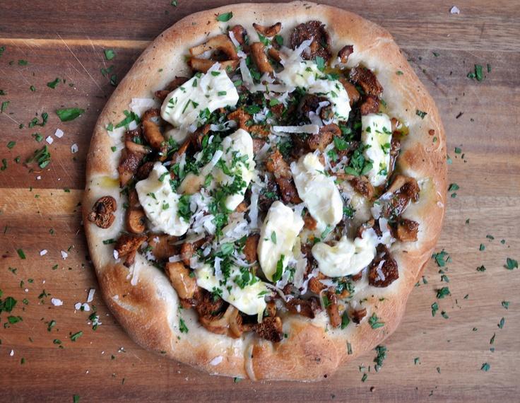 Wild Mushroom and Crescenza Pizza | F o o d & R e c i p e s | Pinte…