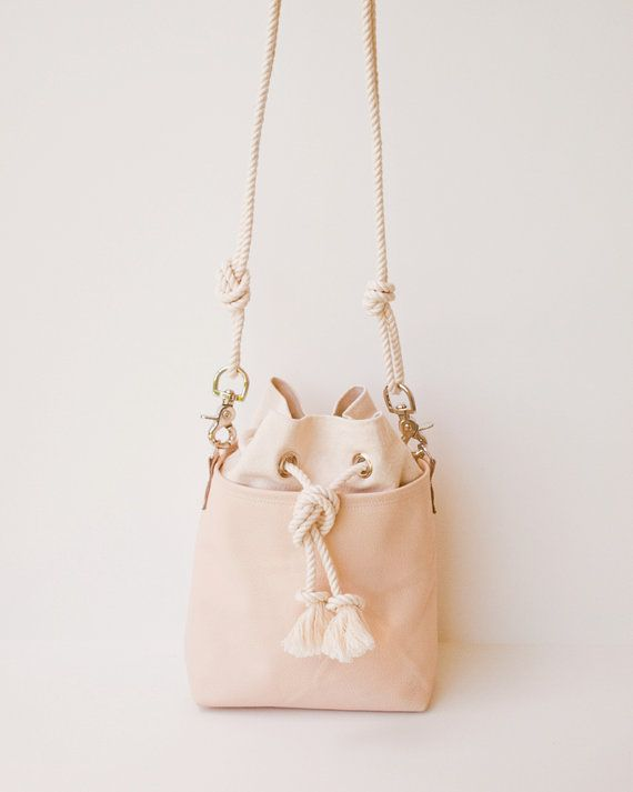 Bucket Bag Blush Nude Leather Mini Hobo by theAtlanticOcean