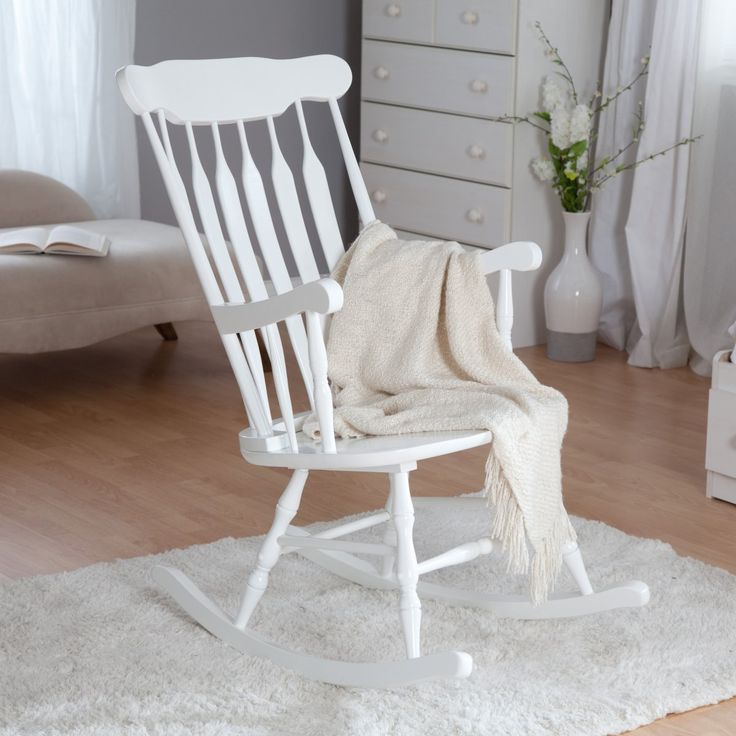 white rocking chairs wooden rocking chairs white rocking chair nursery ...