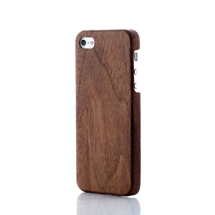 Evouni Ultra-Slim Wooden Case for iPhone 5 - Walnut