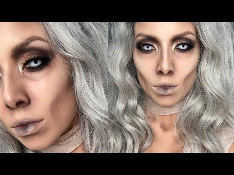 Glam Mummy Halloween Makeup | LustreLux - YouTube