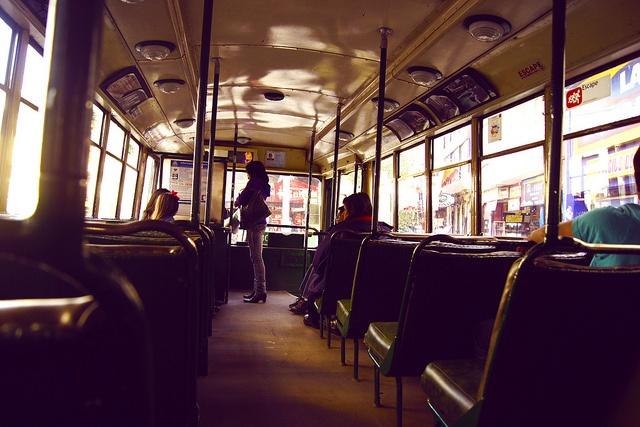 Trolley. Valparaiso, Chile.-
