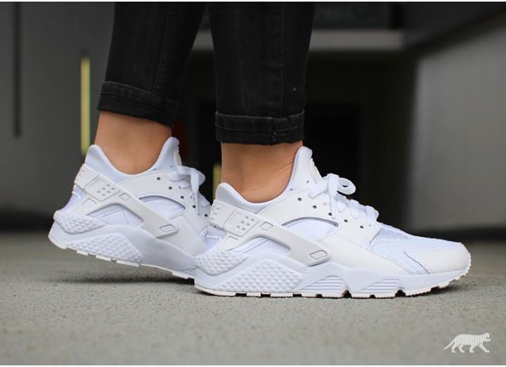 UK RESTOCK. Nike Air Huarache Triple White. Grab them before they sell out again.  http://ift.tt/1JgA1fu