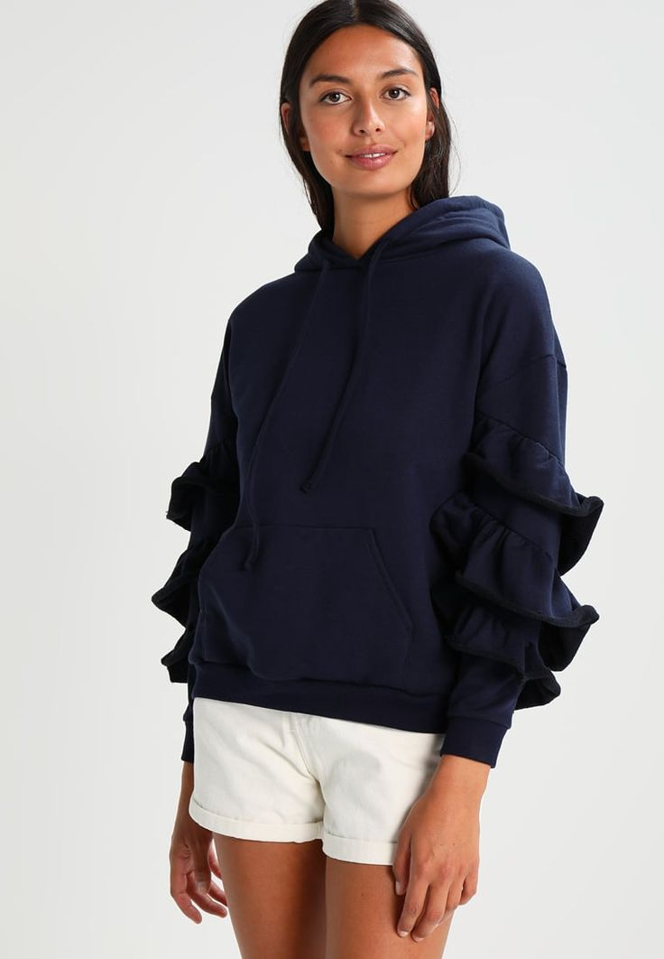 Lost Ink RUFFLE SLEEVE - Sweatshirt - navy for £33.99 (02/08/17) with free delivery at Zalando