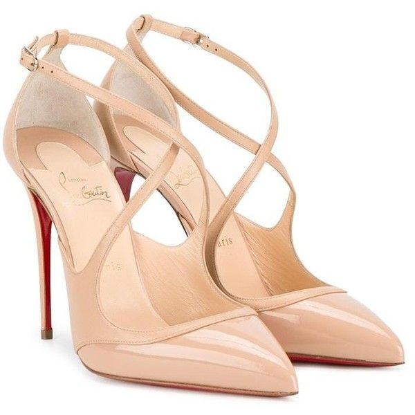 Christian Louboutin criss-cross pumps (50.090 RUB) ❤ liked on Polyvore featuring shoes, pumps, crisscross shoes, criss cross pumps, criss cross shoes, nude pumps and nude shoes