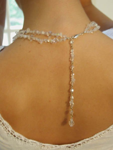 """I love this clasp with the long tail hanging down... it would look great with a low back or no back dress!""""Vintage Collection"""" - Bridal Necklaces - Wedding Chokers"""