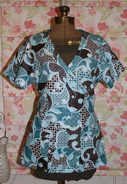 Cute scrub tops made using Simplicity 4378 pattern