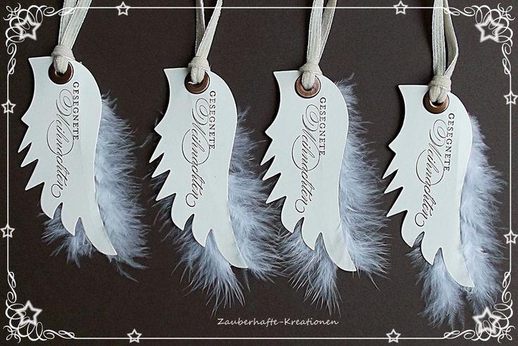 """Geschenkanhänger - Geschenkanhänger""""Engelflügel"""" - ein Designerstück von Zauberhafte-Kreationen bei DaWanda"""