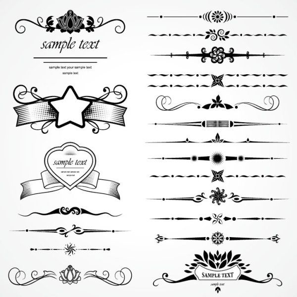 Retro Object Decorative Ornaments frames vector 07 - Vector Frames & Borders free download